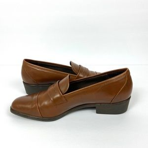 Amalfi Italy Women's Brown Leather Penny Loafers